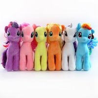 """Wholesale Dolls Little Pony - Hot Sale 6 Style 7"""" 18cm Little Pony Plush Doll Rainbow horse Stuffed Animals Toy For Child Gifts"""