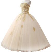Wholesale Yellow Quinceanera Dresses For Sale - Hot Sale Tulle Ball Gown Quinceanera Dresses 2017 Sweetheart Appliques Beaded Lace Up Back Off Shoulder Sweet Dress For 15