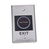 Wholesale Exit Push Button Switch - Wholesale-Door Exit Push Release Button Switch Infrared Sensor No Touch Contactless with LED Indication for Access Control System