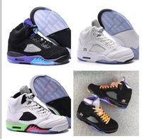 Wholesale Best Brands Basketball Shoes - Retro 5 White Cheap Best Basketball Shoe Mens Brand New Retro 5s Sneakers High Quality Men Sports Outdoors Trainers free shipping