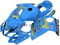 kit de carenado hayabusa azul al por mayor-Kit de carenado de cuerpo completo de inyección de marco de motocicleta para GSXR1300 Kit de carenado de inyección de plástico azul de Hayabusa 2008-2014 Sky Blue