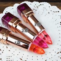 Wholesale hengfang lipsticks for sale - Group buy HengFang Flower Lipstick Color Change on Temperature Food grade lipstick blackish chrysanthemum moisturizing