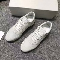 Wholesale Tops Free Shoping - Free shoping Brand Quality Leather High Top Sneakers Fashion and Streetwear Arena Shoes Big Saving Up race white grey sneaker shoes35-44