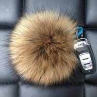 Wholesale Handmade Cloth Shoes - High-Quality Handmade Raccoon Fur Ball Fur Pompoms For Shoes Jewelry Cloth Mixed Size 6cm 8cm 10cm 12cm