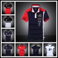 Wholesale Hand Embroidered Shirts - Newest 2017 Summer Style High Quality Australian RETAIL AERONAUTICA MILITARE Men's POLO Shirt Air Force One Embroidered