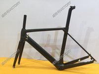 Wholesale Road Frame Carbon Disc Brake - 2017 Newest T800 Disc Brake HQR27 Bike Frame Bicycle Frame+Fork+Seat Post+Clamp+Headset+BB Adapter Size XS S M L XL Available