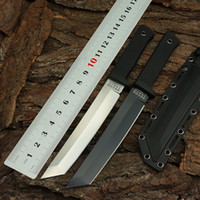 Wholesale Cold Steel Knife Recon - Cold Steel RECON TANTO Tactical Knife, Hunting Fixed Blade Camping Outdoor Knives,440C Blade Survival EDC Tools SAN MAI Straight Knife