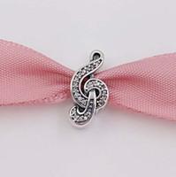 notes de musique bijoux achat en gros de-Authentique Argent 925 perles musique douce, Cz clair Collier Bijoux Europe Fits Style Pandora Bracelets 791381CZ cristal note