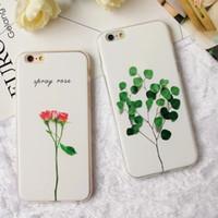 3d bitki toptan satış-Lüks 3D Rölyef Yaprak Karikatür Kılıf iphone 7 Durumda Sevimli Bitkiler Yaprakları çiçek Arka Kapak Telefon Kılıfları Için iphone X XR XSMAX 7 6 6 S Artı