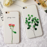 Wholesale Luxury D Relief Leaf Cartoon Case For iphone Case Cute Plants Leaves Flower Back Cover Phone Cases For iphone7 S Plus