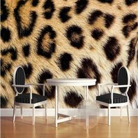 Wholesale Leopard Wallpaper - Wholesale-Mural Wallpapers Home Decor Photo Background Wall Paper Photography Leopard Texture Animal Hotel Bathroom Large Wall Mural