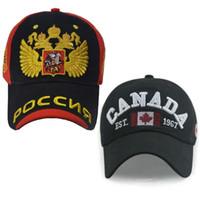 Wholesale Canada Snapback - RUSSIA CANADA ENGLAND Baseball Cap dad Hat for Men Women Snapback bone snap back