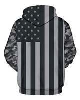 Wholesale American Flag Pullover - Wholesale- Men Brand Clothing3D American Flag Grey Men Hoodies Fashion Hip Hop Vintage Painting Sweatshirt Unisex Pullovers Plus Size