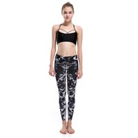 Wholesale Wholesale Bat Leggings - Wholesale- New Arrival LOVE SPARK DARK BAT Print Girls Running Leggings S TO 3XL Elastic Indoor Outdoor Sport Women Pants