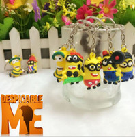 Wholesale Minions Kevin - New DESPICABLE ME Minions Key Chains Children Gifts Hot Movie Character Key Ring Kevin Multiple To Be Chosen