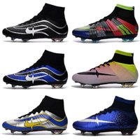 Wholesale Ii Vi - new Champions League Mercurial Superfly Heritage VI CR7 FG Soccer Shoes Magista Obra Football Boots ACC Outdoor Hypervenom II shoes