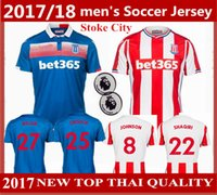 Wholesale Thailand Soccer Jerseys Free Shipping - Free Shipping 217 - 2018 stoke city Home Away Soccer jerseyS 17 18 SHAQIRI BOJAN ARNAUTOVIC DIOUF WALTERS football shirt thailand Quality