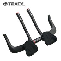 Wholesale Cycle Handlebar Ends - TMAEX-Road Bike Rest Handlebar Full 3k Carbon Travel Cycling Aero Bar Bicycle TT Handlebars+Auxiliary Carbon Handlebar 480g