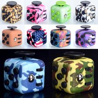 Wholesale Magic Leopard - 16 colors camo Fidget Cube Anxiety Stress Relief Focus Toys Gift Camouflage Star Purple Jade Green Leopard 16 Styles Magic Cubes