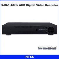 Wholesale Vga Systems - 4 8CH CCTV 1080N Hybrid AHD 5-in-1 DVR (1080P NVR+1080N AHD+960H Analog+TVI+CVI) Real-Time home Security system HDMI VGA P2P Mobile control