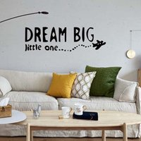 Murals PVC Cartoon For Dream Big Little One Airplane Decal Wall Removable  Vinyl Decor Sticker Bedroom
