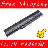 Wholesale Asus K42 Battery - Wholesale-11.V 5200mAh Laptop Battery For Asus k42 k52 a52 a52f a52j a31-k52 a32-k52 a41-k52 a42-k52 a31-b53 k52l681 KB8041 Free shipping