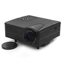 Wholesale Vga Designs - Wholesale-LZ - H80 80 Lumens 480 x 320 Pixels Mini LED Frosted Projector Support HDMI AV VGA SD Card Input Dust Free Design Projector