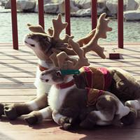 Wholesale Moose Toys - Dorimytrader 72cm Big Simulated Animal Reindeer Plush Toy Soft Emulational Sika Deer Doll Wapiti Moose Elk Pillow Gift DY60294
