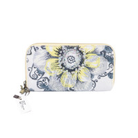 Wholesale Shinny Fabric - Fashion Clutch Bag shinny party bag perfet Xiang Embroidery wallets paillette flower purse National wallets card holder wallets Q10