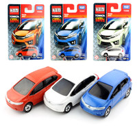 Wholesale Cheap Toy Model Cars - Kids Tomy mini scale tomica Handa Jazz baby diecast auto cheap vehicle models cars toys machines durable collectile gift for children 2017