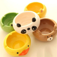 Wholesale Animal Ashtray - Cute Cartoon Animals Ceramic Ashtray Creative Personality Birthday Present Teacher Gifts Home Decor Free Shipping