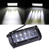 Wholesale dual motorcycle headlight - Motorcycle car modified headlights dual 36W CREE Strip lamp