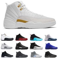 Wholesale Game Master - 2017 air retro 12 ovo white Mens basketball shoes Taxi the master Flu Game wolf grey playoffs french blue wool sneakers eur 41-47