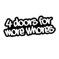 Wholesale Bumper Truck - For 4 Doors For More Whores Sticker Funny Car Styling Drift Jdm Truck Car Window Bumper Vinyl Decal Accessories Decor