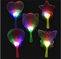 Wholesale Big Advertising - 2017New Halloween Christmas Colorful Flash Fan Light emitting Fan Pushan advertising Gift LED Flash light Fan Toys