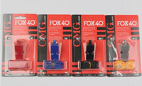 Wholesale Football Breaks - Fox 40 Classic Official Whistle with Break Away Lanyard FOX 40 football whistle soccer Basketball Referee FOX 40 whistle