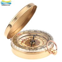 Wholesale Wholesale Military Rings - G50 Portable Military Compass Brass Metal Gift Luminous Pocket Brass Watch Style Ring KeyChain Camping Hiking Car Compass Survival Watch
