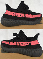 Wholesale Net Tables - 2016 hot Authentic sports shoes 350 v2 men's running shoes sneakers popcorn female red net surface breathable kanye west 350v2 Boosts
