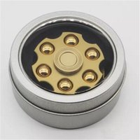 Hand Spinner Metal Left Wheel Warhead Alliage d'aluminium Finger With Iron Box Package Gyro Décompression Finger Gyro Livraison gratuite