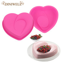 Wholesale Silicone Cake Mould Heart - Bakeware & Tools Baking Pastry Mould Heart With Love Design Silicone Cake Mold