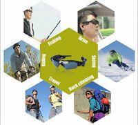 Wholesale Dv Mp3 Sunglasses - 720P HD Mp3 Cctv Hidden Camera Sunglasses Mini Dv Camcorder Video Recorder Sport Glasses Camera Support 32GB Micro SD Memory Cards