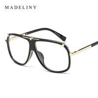 Wholesale Top Brand Eyeglasses Wholesale - Wholesale- MADELINY New Fashion Women Glasses Vintage Eyeglass Frame Brand Design Men Top Quality Glasses Clear Lens Vintage UV400 MA014