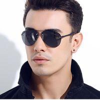 Wholesale green plastic sheets - trend men's sunglasses glasses metal sheet gemajing Sports Fishing sunglasses