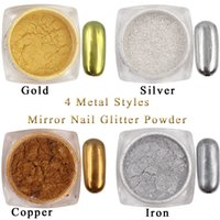 1g / Box Gold Sliver Nail Glitter Powder Shinning Mirror Eye Shadow Makeup Powder Dust Nail Art DIY Chrome Pigment Glitters