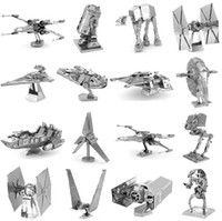Wholesale Robot Puzzle - 3D Models Metallic Nano Puzzle F15 R2D2 robot kits Imperial star Destroyer for kids adult Chirstmas gift Free DHL