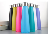 Wholesale Usa Personalities - CA USA UK Free 450ml Cola Shaped Bottle Insulated Double Wall Vacuum High-luminance Water Bottle Creative Thermo Bottle Coke Cup Wine Glass