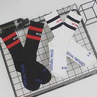 Wholesale Tiding Wholesalers - VETEMENTS Socks Tide Brand Teenager Student Hip Hop Style White Black Long Sockings Letter Embroidery Athletes Leg Warmers Stripe Socks