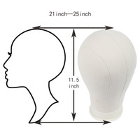 Canvas Block Head e Stand per parrucca Display Making Styling Professionale Mannequin Canvas Block Head 21
