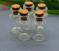 Wholesale Cheapest Bottle Stoppers - Cheapest 3ml 4ml 5ml 7ml 10ml 12ml Mini Clear Glass Bottle Vials Empty Sample Jars with Corks Stopper Message Vial Weddings Wish Bottle