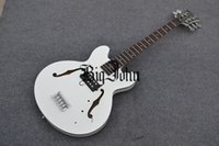 Wholesale Electric Guitar Hollow White - free shipping new arrived Big John 5-strings hollow electric bass guitar in white made in China F-1881